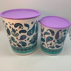 Tupperware Set Maxi Canister Magic Touch